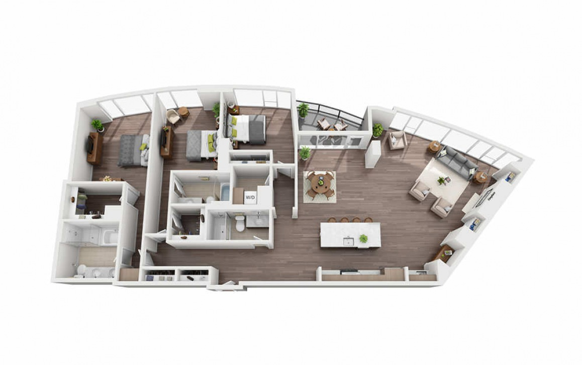 3 Bedroom Penthouse B