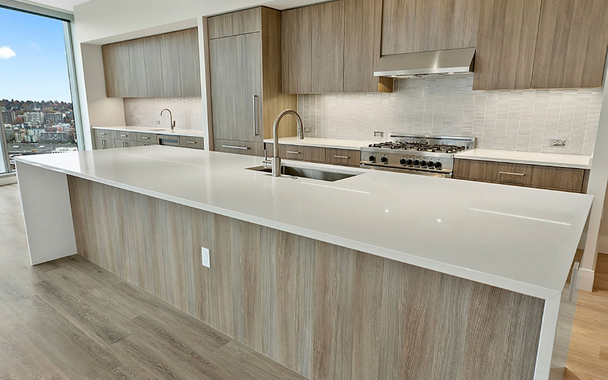 Waterfall Quartz Countertops